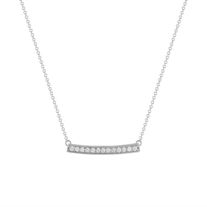 DIAMOND MAXI PENDANT | WHITE GOLD