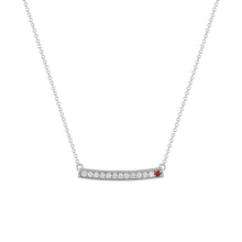 kait and toby large white gold gemstone necklace with january birthstone garnet