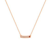 kait and toby medium size gemstone necklace with diamonds and january birthstone garnet on thin rose gold chain