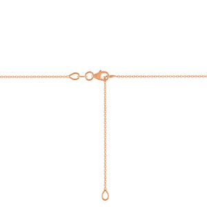 Kait and Toby Rose Gold Lobster Clasp Adjustable Thin Necklace Chain