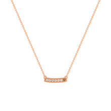 kait and toby medium size gemstone necklace with diamonds and april birthstone chocolate diamond on thin rose gold chain