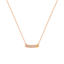 kait and toby medium size gemstone necklace with diamonds and april birthstone yellow diamond on thin rose gold chain