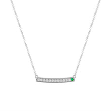 kait and toby large white gold gemstone necklace with may birthstone black emerald