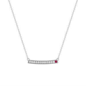 kait and toby large white gold gemstone necklace with july birthstone ruby