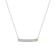 kait and toby large white gold gemstone necklace with april birthstone yellow diamond