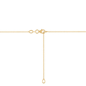 Kait and Toby yellow Gold Lobster Clasp Adjustable Thin Necklace Chain