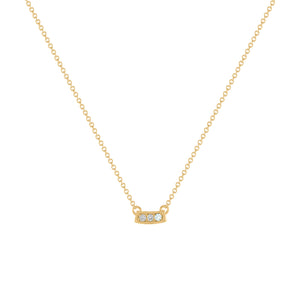 Kait and Toby Mini Yellow Gold Necklace with Aquamarine Birthstone