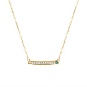 kait and toby large yellow gold gemstone necklace with december birthstone blue topaz