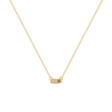 Kait and Toby Mini Yellow Gold Necklace with Chocolate Diamond Birthstone