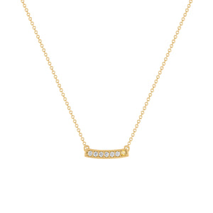 kait and toby medium size gemstone bar necklace with diamonds and november birthstone citrine on thin yellow gold chain