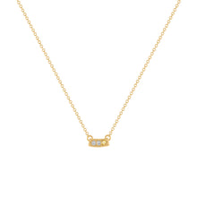Kait and Toby Mini Yellow Gold Necklace with Citrine Birthstone