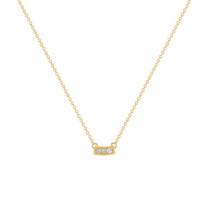 Kait and Toby Mini Yellow Gold Necklace with Tanzanite Birthstone