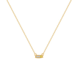 Kait and Toby Mini Yellow Gold Necklace with Yellow Diamond Birthstone