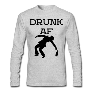 Drunk AF Funny Men's Long Sleeve T-Shirt - Funny Drinking Shirts - Roc City Apparel