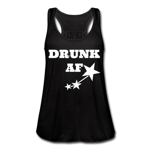 Drunk AF Women's Flowy Funny Drinking Tank Top - Cute Drinking Shirts - Roc City Apparel