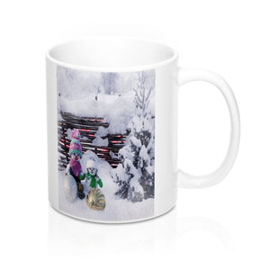 Cute Winter Snowman Mug-Ceramic Mugs-Roc City Apparel-Mug 11oz-Roc City Apparel