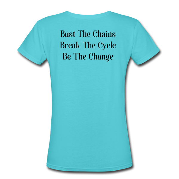 BTCx3 Crew Ladies V Neck T-Shirt - Double Sided Print - Roc City Apparel