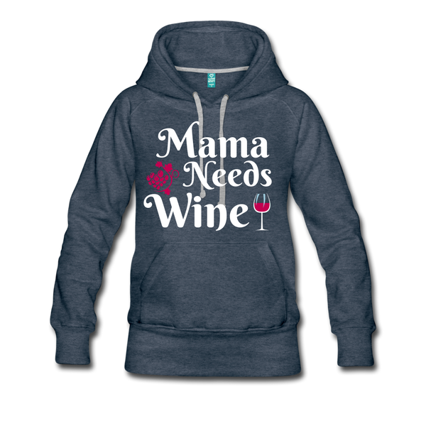 Mama Needs Wine Hoodie - Roc City Apparel