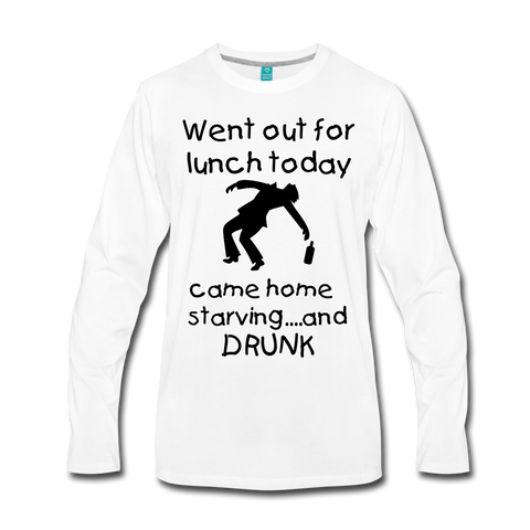 Went Out For Lunch Today Came Home Starving And Drunk Funny Drinking Shirt - Roc City Apparel