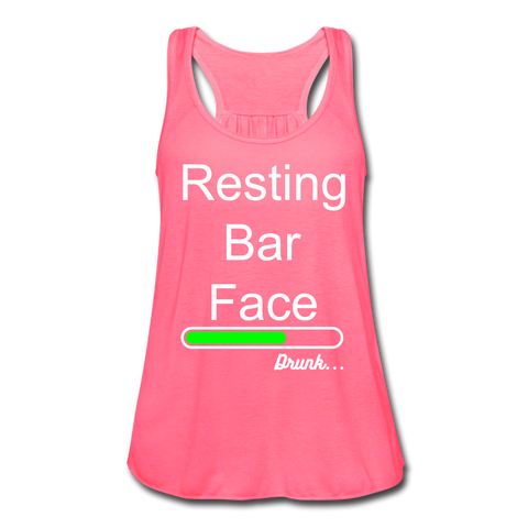 Resting Bar Face Women's Flowy Tank Top - Roc City Apparel