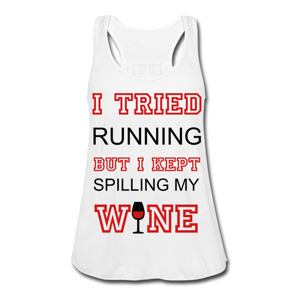 I Kept Spilling My Wine Women's Flowy Tank Top - Roc City Apparel