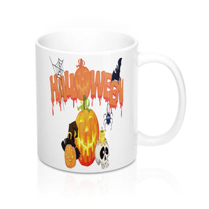 Cute Halloween Mug-Ceramic Mugs-Roc City Apparel-Mug 11oz-Roc City Apparel
