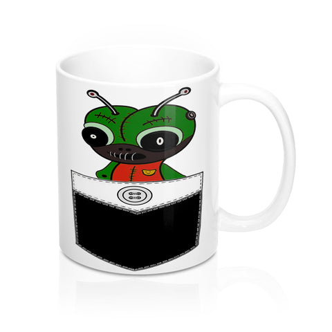 Cute Little Alien Coffee Mug-Ceramic Mugs- #aliencoffeemug #coffeelovers #coffeecups