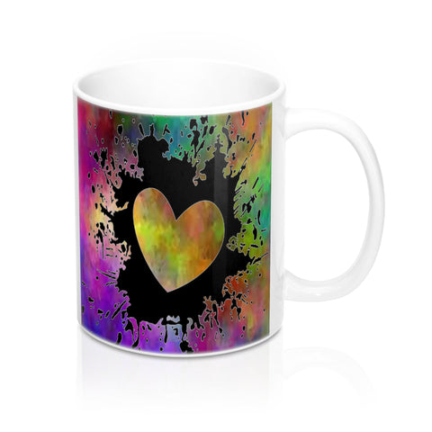 Cool Colorful Heart Mug-Ceramic Mugs-Roc City Apparel-Mug 11oz-Roc City Apparel
