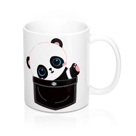 Adorable Faux Pocket Panda Coffee Mug - Roc City Apparel