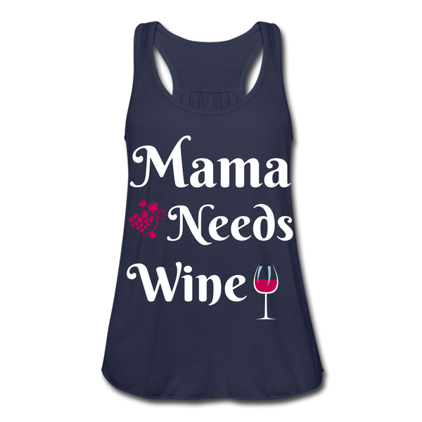 Mama Needs Wine Women's Flowy Tank Top - Roc City Apparel