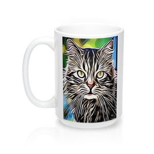 Cute Grey Cat Mug-Ceramic Mugs-Roc City Apparel-Roc City Apparel