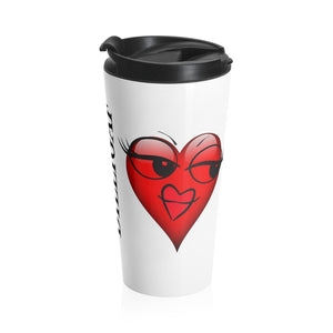 DILLIGAF Heart Stainless Steel Travel Mug-Ceramic Mugs-Roc City Apparel- #stainlesssteeltravelmug #travelmug