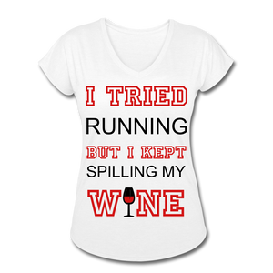 I Kept Spilling My Wine Women's V-Neck T-Shirt - Roc City Apparel