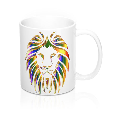 Colorful Lion Novelty Mug-Ceramic Mugs-Roc City Apparel-Mug 11oz-Roc City Apparel