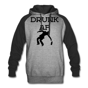 Drunk AF Funny Drinking Colorblock Hoodie - Party Crew Hoodie - Roc City Apparel