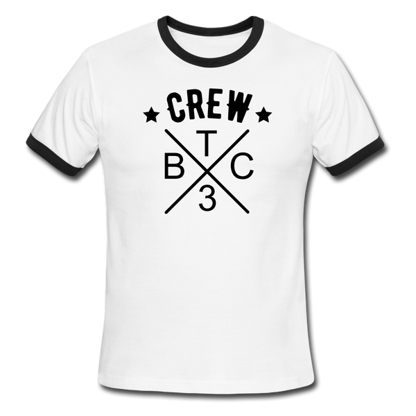 BTCx3 Crew Ringer T-Shirt - Double Sided Print - Roc City Apparel