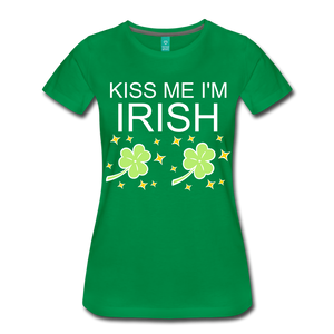 Kiss Me I'm Irish Just Kidding I'm Italian Women's T-Shirt - Roc City Apparel
