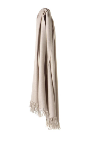 Traveller Scarves Baby Alpaka Light Grey Ivory
