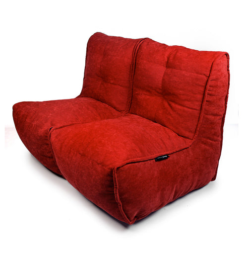 Sitzsack Sofa Twin - 2er Sofa in Wildberry Red
