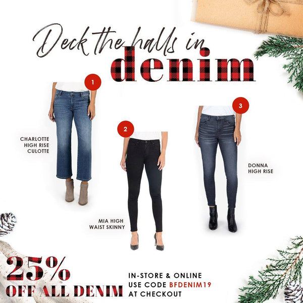Deck the Halls in Denim | A holiday gift guide by Shannon Passero