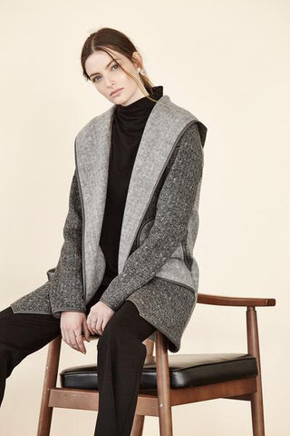Brushed Sweater Hooded Jacket shannon passero