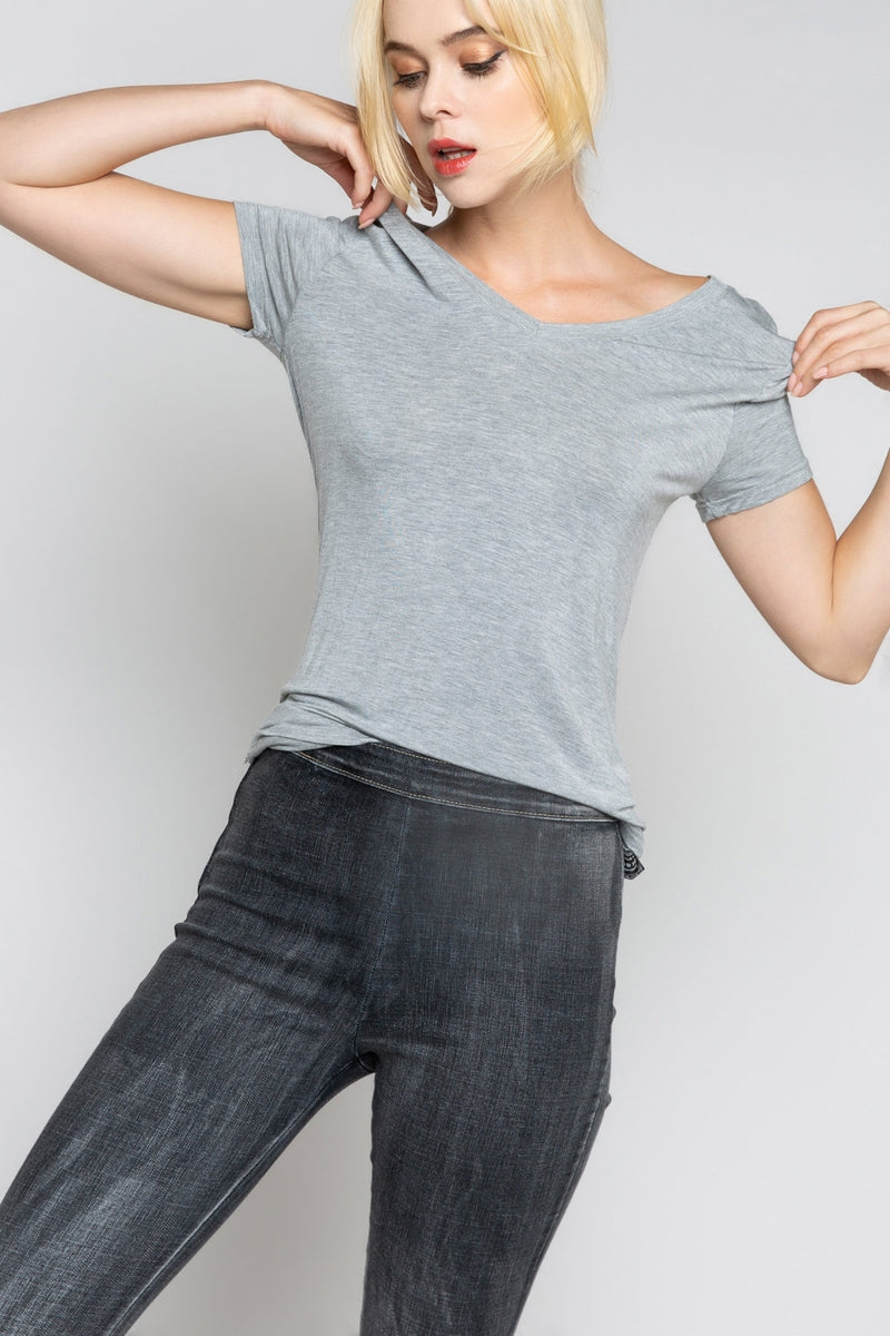 Basic Short Sleeve Tee Tops - The Post Office by Shannon Passero. Fashion Boutique in Thorold, Ontario