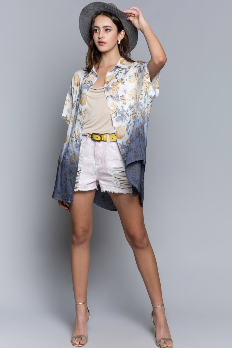Loving Lemons Button Up Shirt Tops - The Post Office by Shannon Passero. Fashion Boutique in Thorold, Ontario