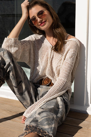 Openweave Knitted Sweater