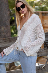 Openweave Knitted Sweater Tops - The Post Office by Shannon Passero. Fashion Boutique in Thorold, Ontario