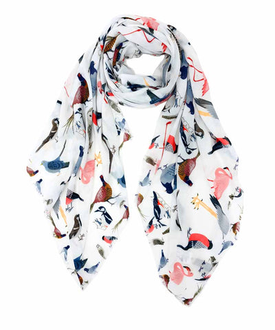 Multi Bird Scarf JC Sunny Fashion Canada