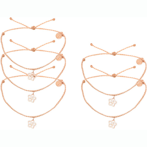 Rose Gold Plumeria Braid Puravida Bracelets Blush Canada