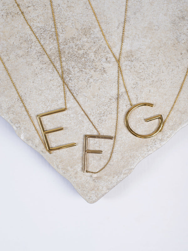 Sideways Letter Necklace Jewelry - The Post Office by Shannon Passero. Fashion Boutique in Thorold, Ontario