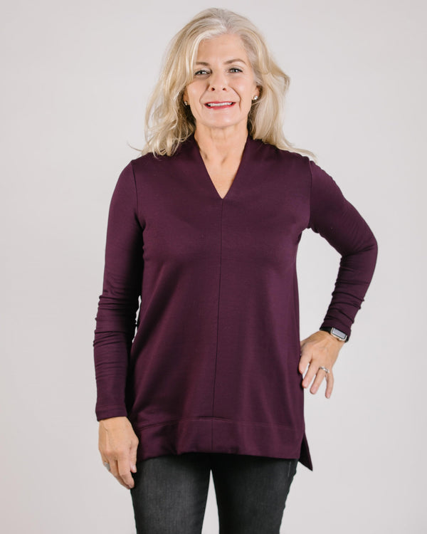 Fleece Vneck L/S Top Tops - The Post Office by Shannon Passero. Fashion Boutique in Thorold, Ontario