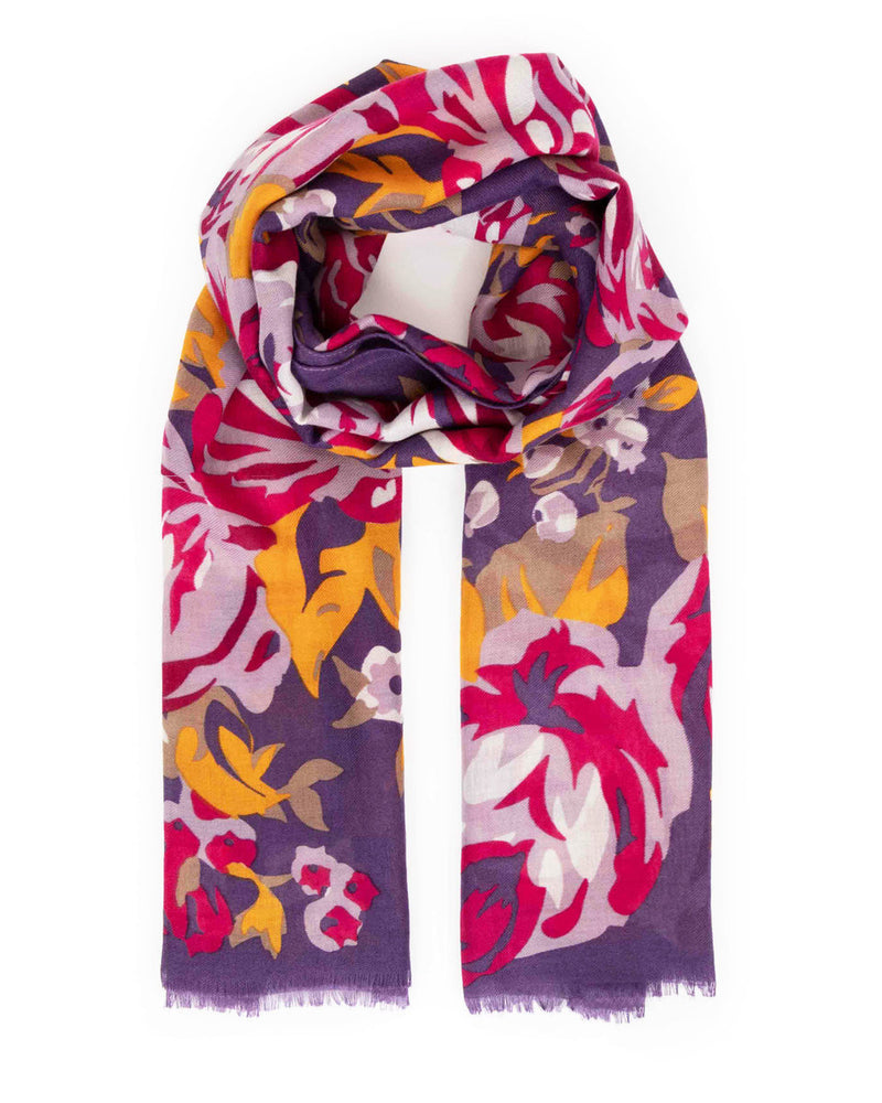 Autumn Roses Print Scarf Accessories - The Post Office by Shannon Passero. Fashion Boutique in Thorold, Ontario